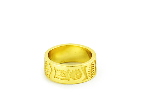"""Jelani"", The Mighty Ring Yellow Gold"