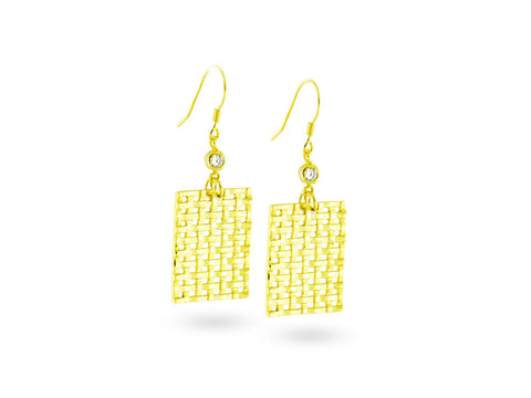 """Kikapu"", The Basket  Earrings"