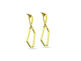 """Luciana"", Light Earrings in Yellow Gold"
