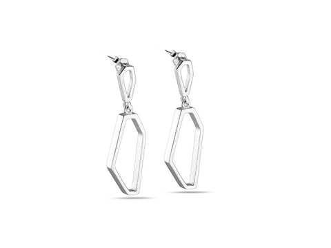 """Luciana"", Light Earrings in White Gold"