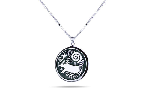 """Morning Star"", Symbol of Hope and Guidance Necklace White Gold"
