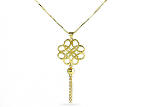 """Jie"", The Divine Knot Necklace II"