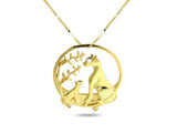 """Pori"" The Wild, Necklace Yellow Gold"