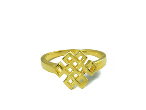 """Srivatsa"" A Knot Representing Karmic Consequences, Ring Yellow Gold"