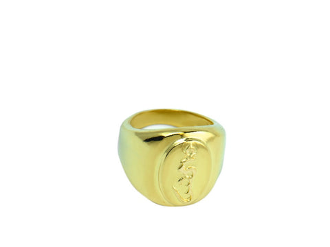 """Hung"", A Symbol of Enlightenment Ring Yellow Gold"
