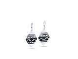 """Water Waves"" Symbol of Life Cycles, Earrings I White Gold"