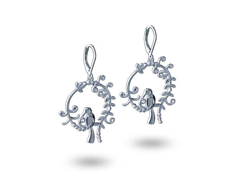 """Daksha"", The Talented One Earrings White Gold"