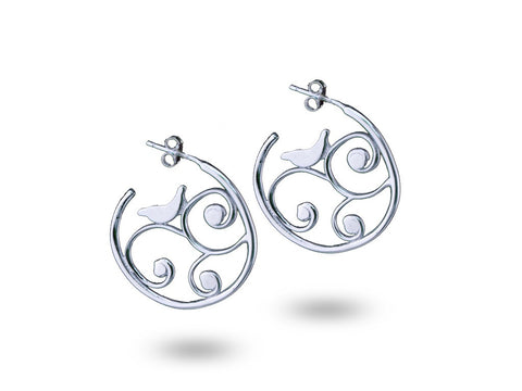"""Karishma"", The Miracle Earrings White Gold"