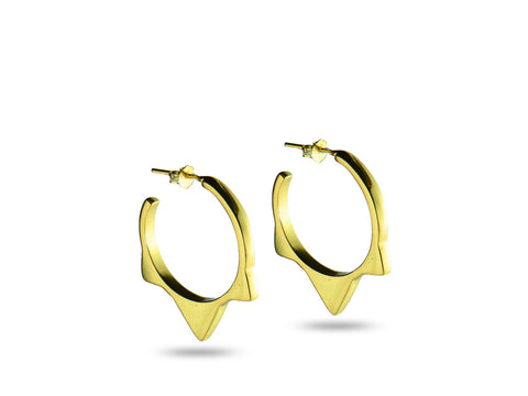 """Cualli"" The Good One Earrings in Yellow Gold"