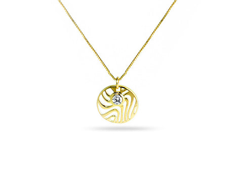 """Aisha"", The Life Necklace Yellow Gold"