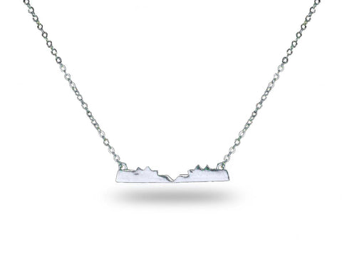 """Chicahua"" The Strong One, Necklace in White Gold"