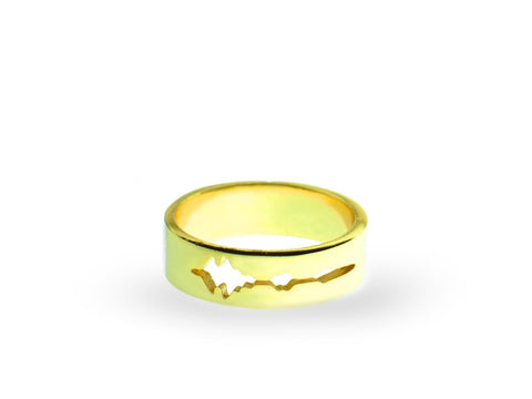 """Son de l' amour"", Sound of Love Ring Yellow Gold"