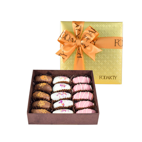 Fodakty Elegance Standard Square Chocolate Covered Dates Gift Box