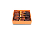 inside-orange-PlainDates Plain-Dates The-box-contains-Sukary-Khalas-Sagai-Majdool-Dates