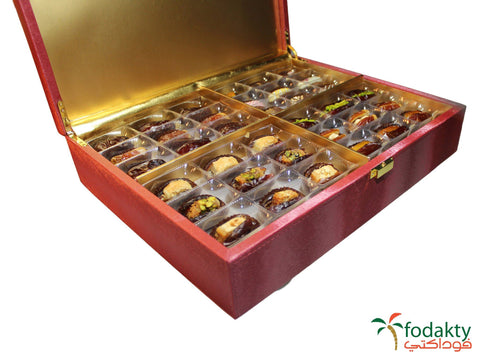 Date gift box with assortment of dates - Mireekh Box