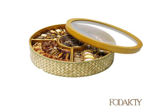 Date gift box with assortment of dates - Al Eid Box