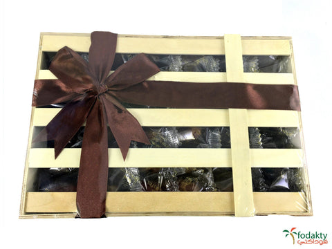 Date gift box assortment of dates - Wooden Hand Made