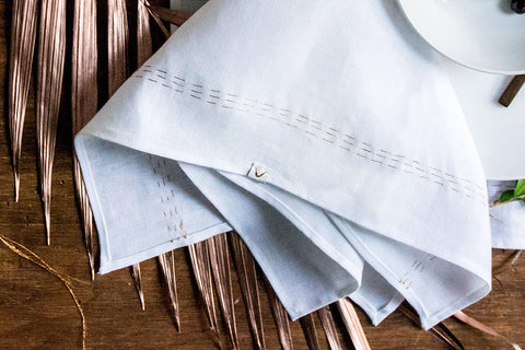 Cloud + Copper Linen Napkin