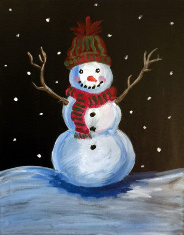 """Snowman"" Family Painting Class, Jan 13th"