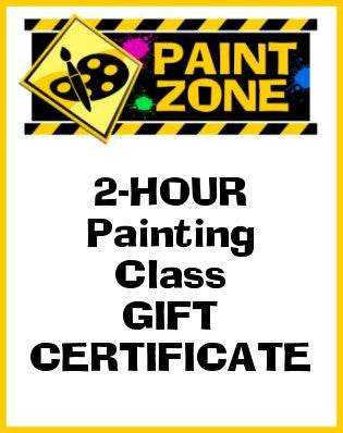 2-hour GIFT CERTIFICATE to Paint Zone Public Canvas Painting Class in Rutherford