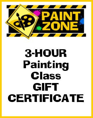 3-hour GIFT CERTIFICATE to a PAINT ZONE Public Rutherford, New Jersey Canvas Painting Class