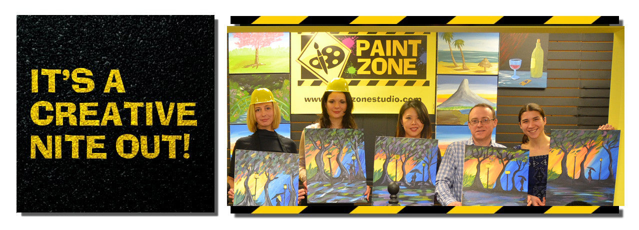 Paint Zone wine & painting classes NJ