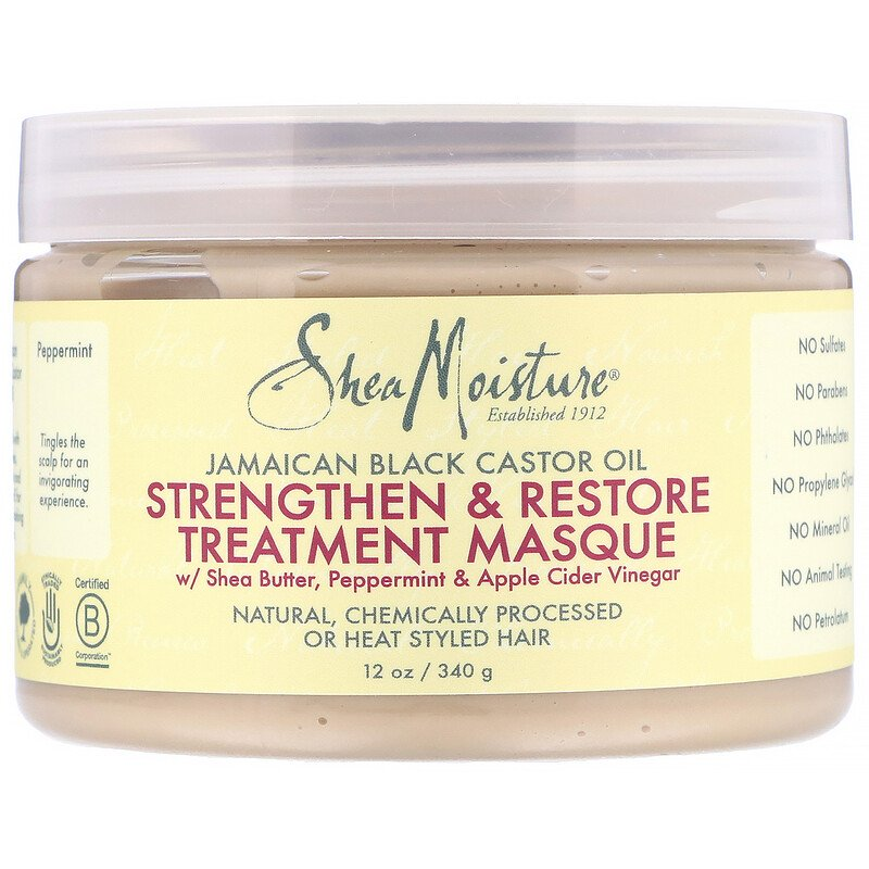Shea Moisture Jamaican Black Castor Oil Strengthen,& Restore Leave-In Conditioner - Beauty Bar & Supply