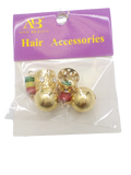 Ana Beauty Hair Acc Gold Balls w/red/green&yellow - Beauty Bar & Supply