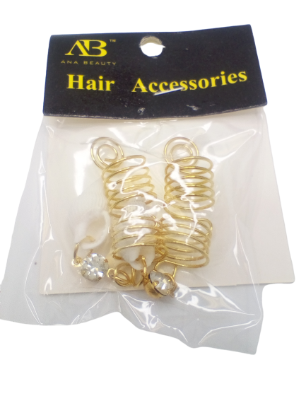 Ana Beauty Hair Accessories Spiral with Shell - Beauty Bar & Supply