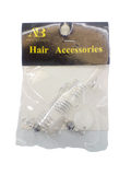 Ana Beauty Hair Accessories Spiral with Eggshell - Beauty Bar & Supply