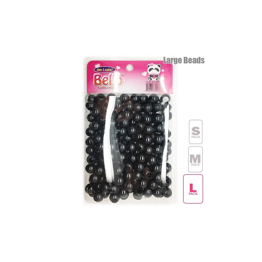 Bello Collection Hair Beads-Black #39902 - Beauty Bar & Supply