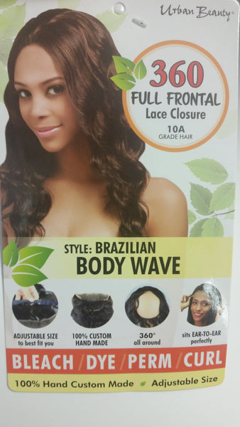 Urban Beauty BRAZILIAN Body Wave 360 CLOSURE - Beauty Bar & Supply