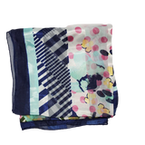 Headscarf Wrap Multicolored-Floral Pattern with Solid boarder - Beauty Bar & Supply