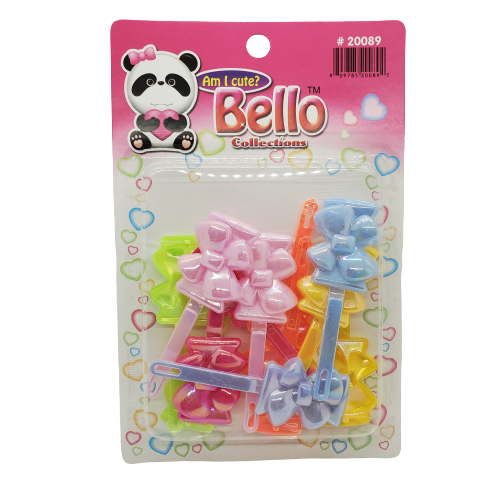 Bello Collection Hair Barrette-Assorted Pastel #20089 - Beauty Bar & Supply
