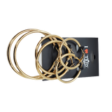 I lv Trio 3 Pairs Hoop Earring Gold