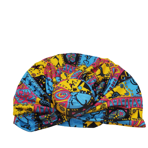 Crystal Collection Head Turban-African Print