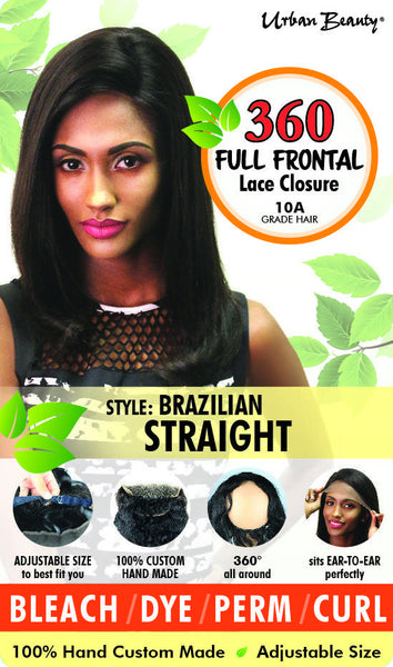 Urban Beauty BRAZILIAN Straight 360 CLOSURE - Beauty Bar & Supply