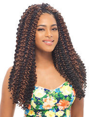 Janet Collection Noir Water Wave 24""