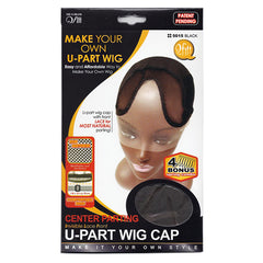 Qfitt Center Parting Invisible Lace Front U Part Wig Cap