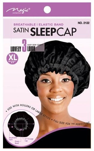 "Magic Collection Breathable Satin Bonnet 21"" XLarge - Beauty Bar & Supply"