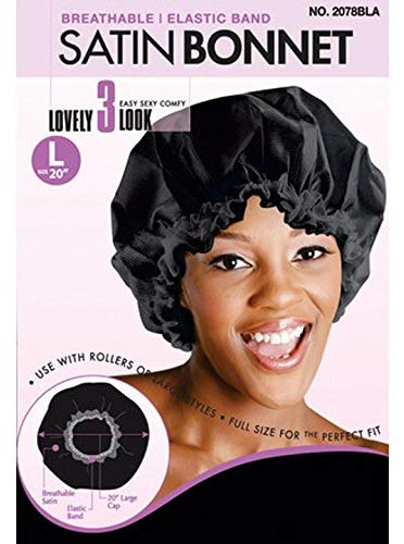 "Magic Collection Breathable Satin Bonnet 20"" Large - Beauty Bar & Supply"