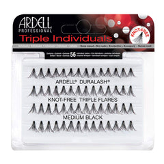 Ardell Duralash Knot Free Triple Flares Individual Lashes Meduim Black - Beauty Bar & Supply