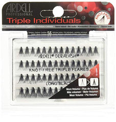 Ardell Duralash Knot Free Triple Flares Individual Lashes Long Black - Beauty Bar & Supply