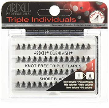 Ardell Duralash Knot Free Triple Flares Individual Lashes Short Black - Beauty Bar & Supply