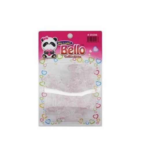 Bello Collections Hair Barrette-Glitter Pink #20206