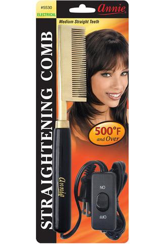 Annie Straightening Comb Medium Teeth #5530 - Beauty Bar & Supply