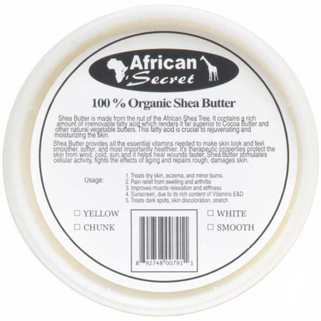 African Secret Shea Butter White 8 oz
