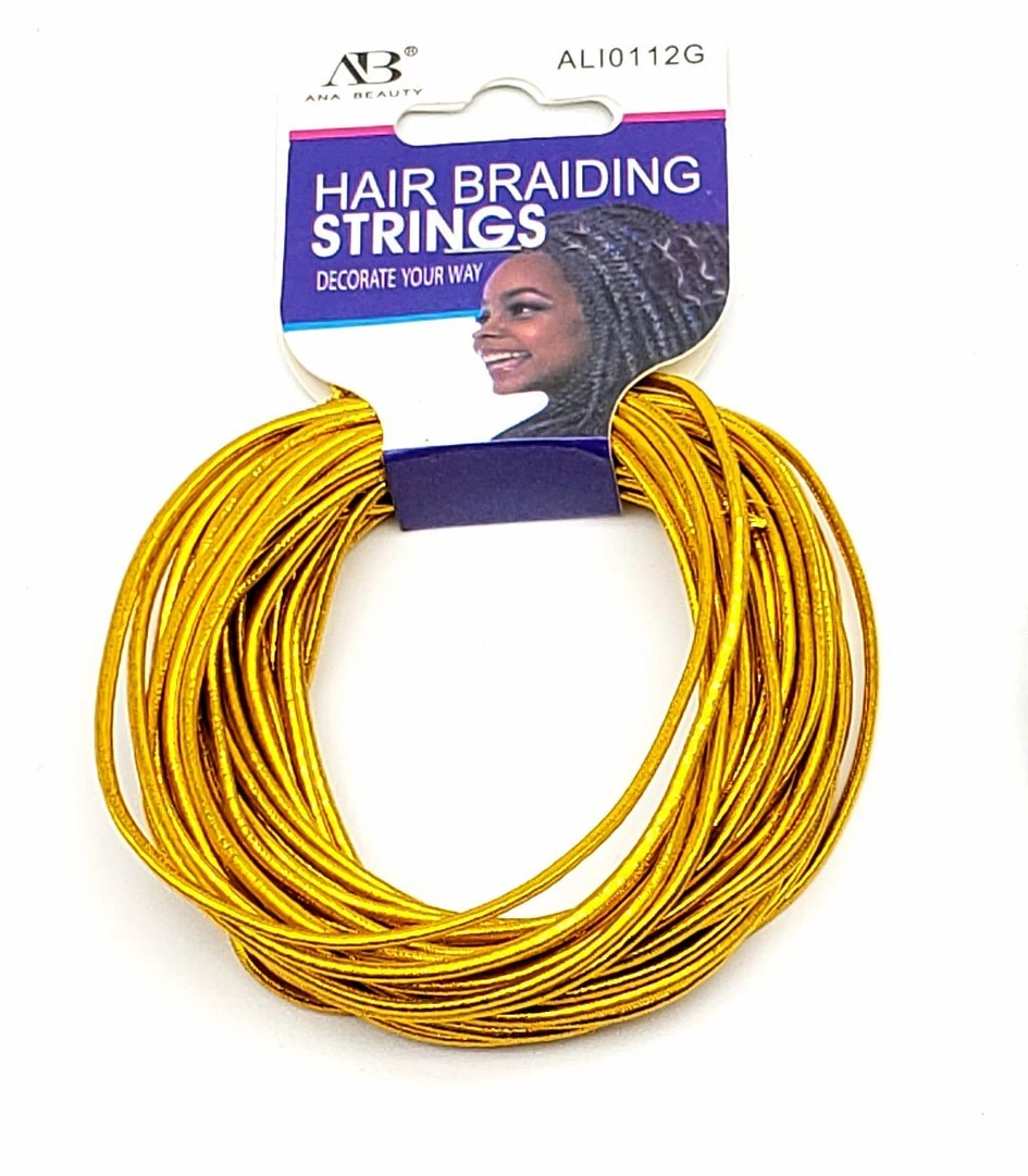 Ana Beauty Hair Braiding Strings-Gold ALI0112G - Beauty Bar & Supply