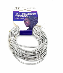 Ana Beauty Hair Braiding Strings-Silver ALI0112S - Beauty Bar & Supply