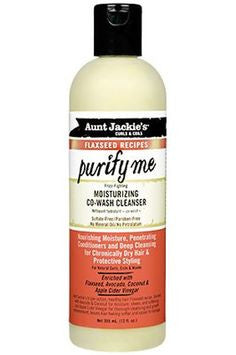 Aunt Jackie's Curls & Coils Flaxseed Recipes Purify Me Moisturizing Co-Wash Cleanser - Beauty Bar & Supply